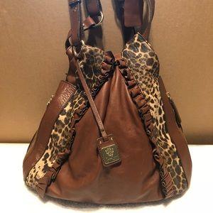 Handbags - JESSICA SIMPSON COGNAC @ ANIMAL PRINT PURSE